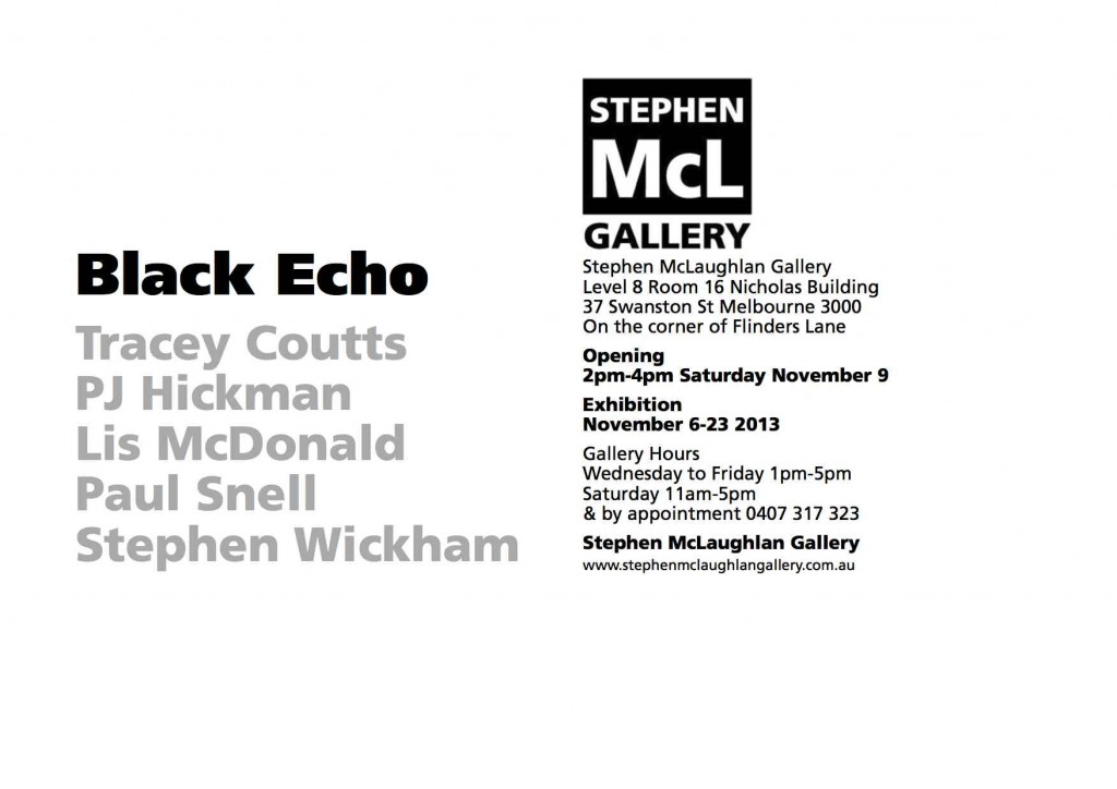Black Echo flyer
