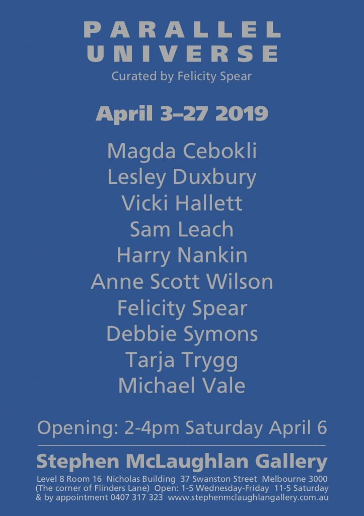 Invitation with list of exhibiting artists
