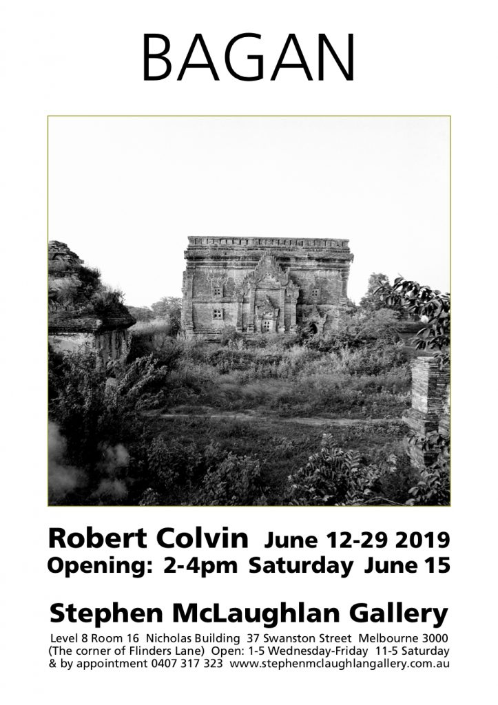 Invite for Robert Colvin art exhibition