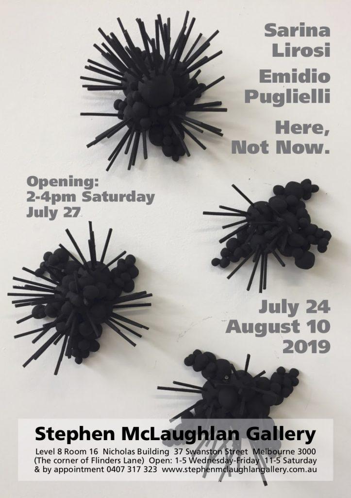 Flyer for art exhibition at Nicholas Building, Melbourne