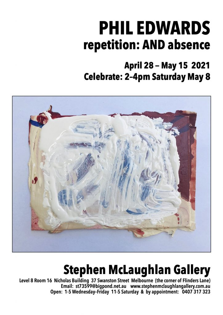 Art exhibition flyer for Phil Edwards at the Stephen McLaughlan Gallery